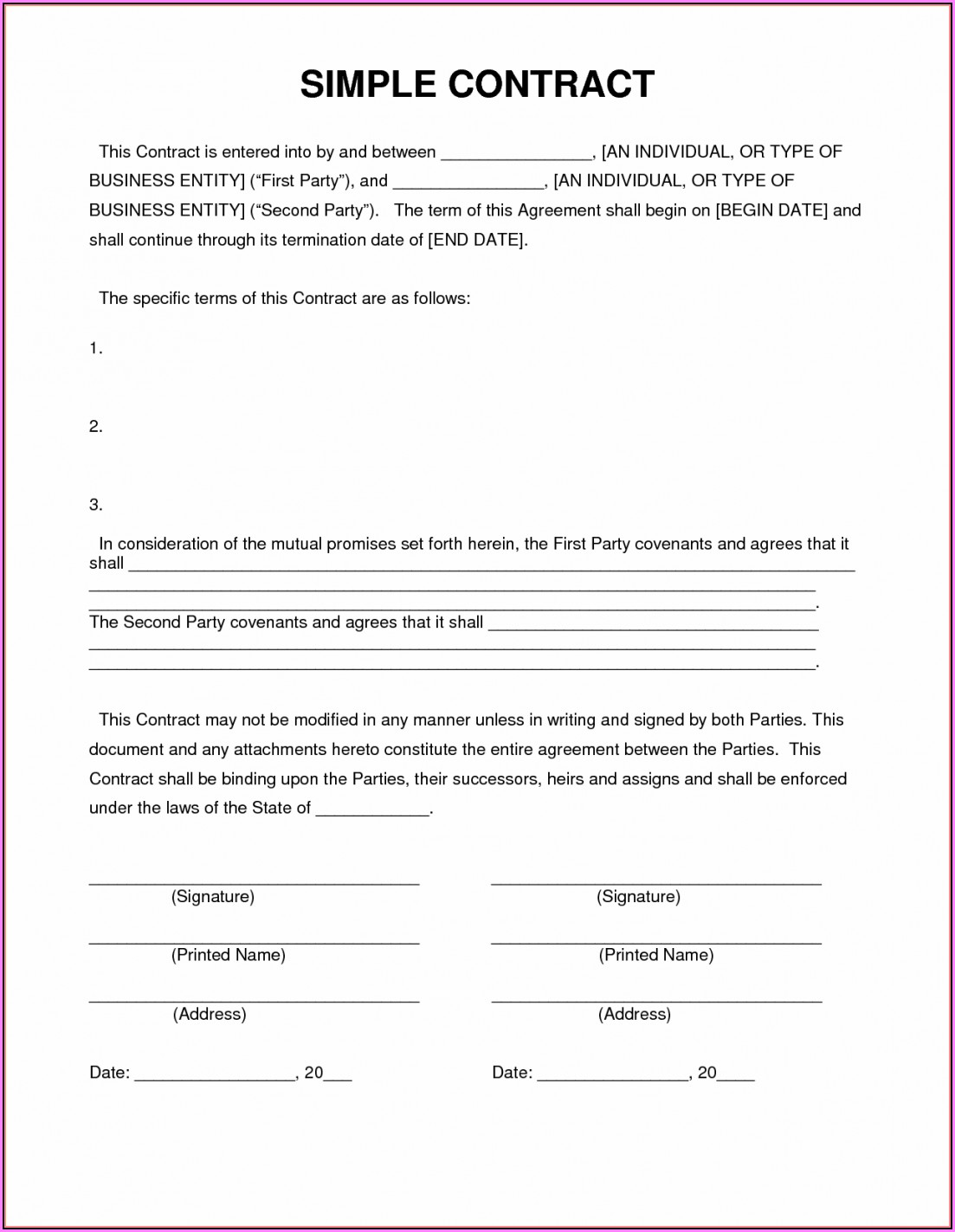 Exclusivity Agreement Template South Africa