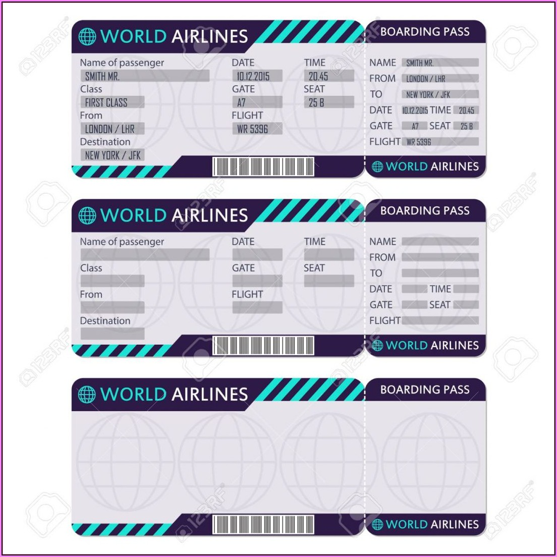Fake Airline Ticket Template Online