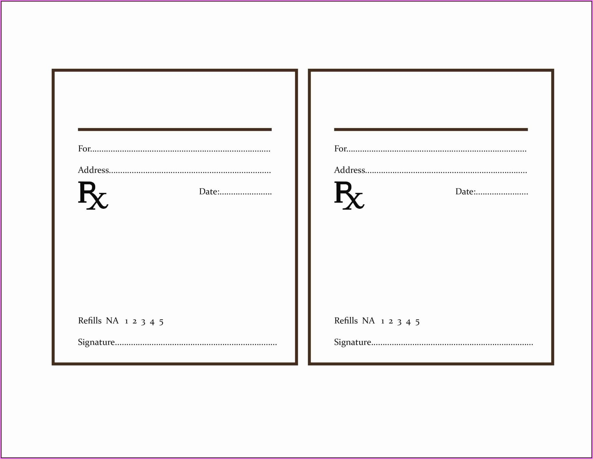 Fake Prescription Template