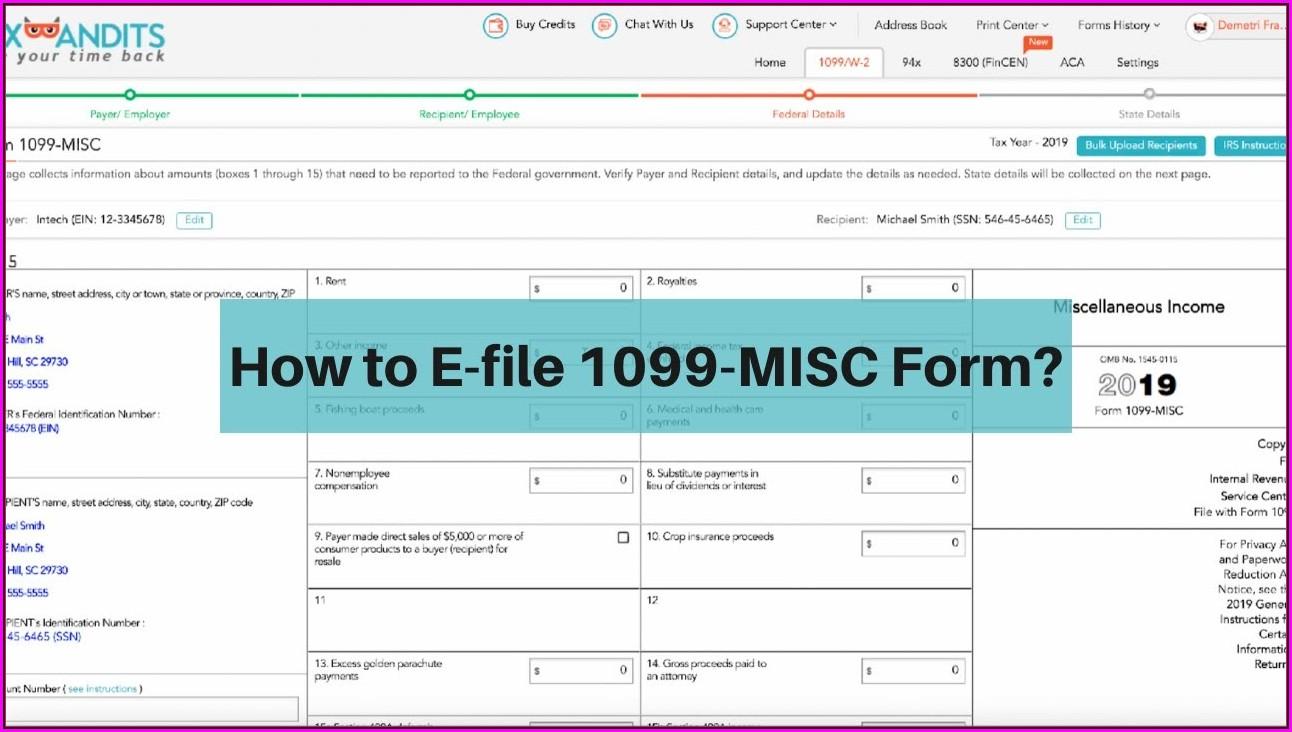 File 1099 Misc Form Online