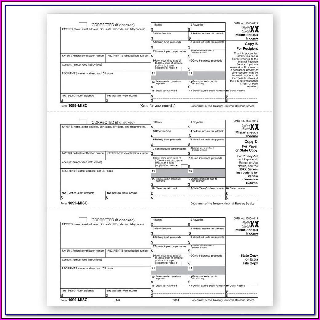 File Form 1099 Misc California