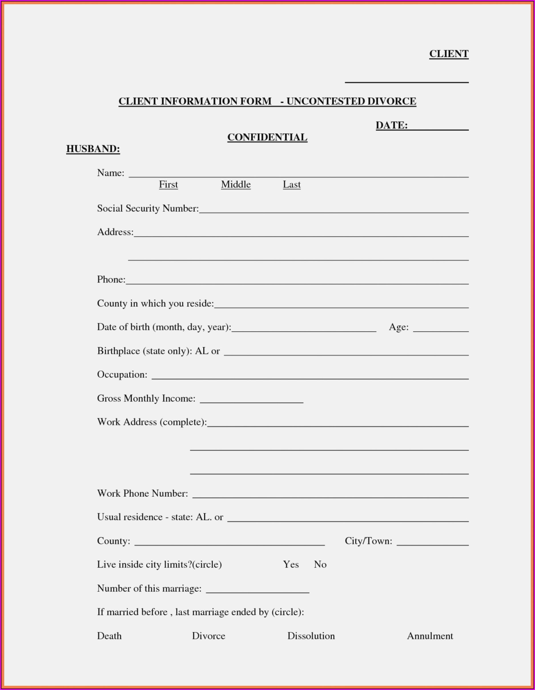 Fl Divorce Paperwork