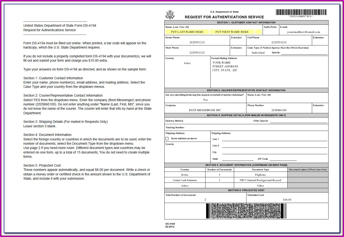 Florida Department Of State Apostille Form