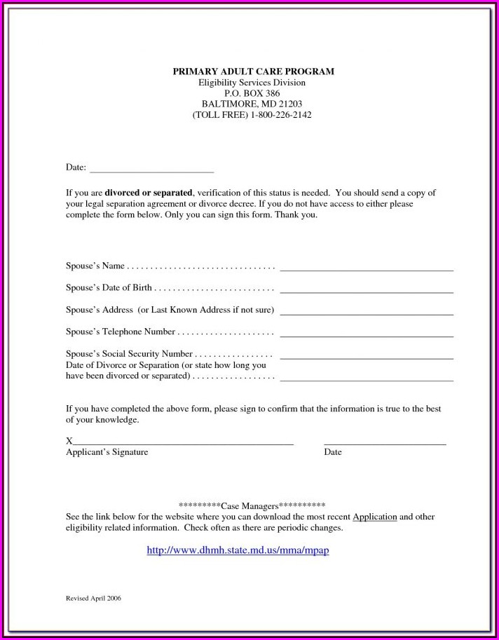 Florida Separation Agreement Form