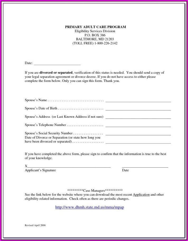 Florida Separation Agreement Form