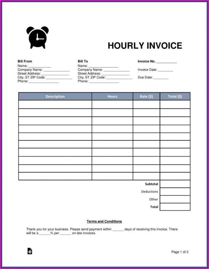 Free Blank Invoice Form Pdf