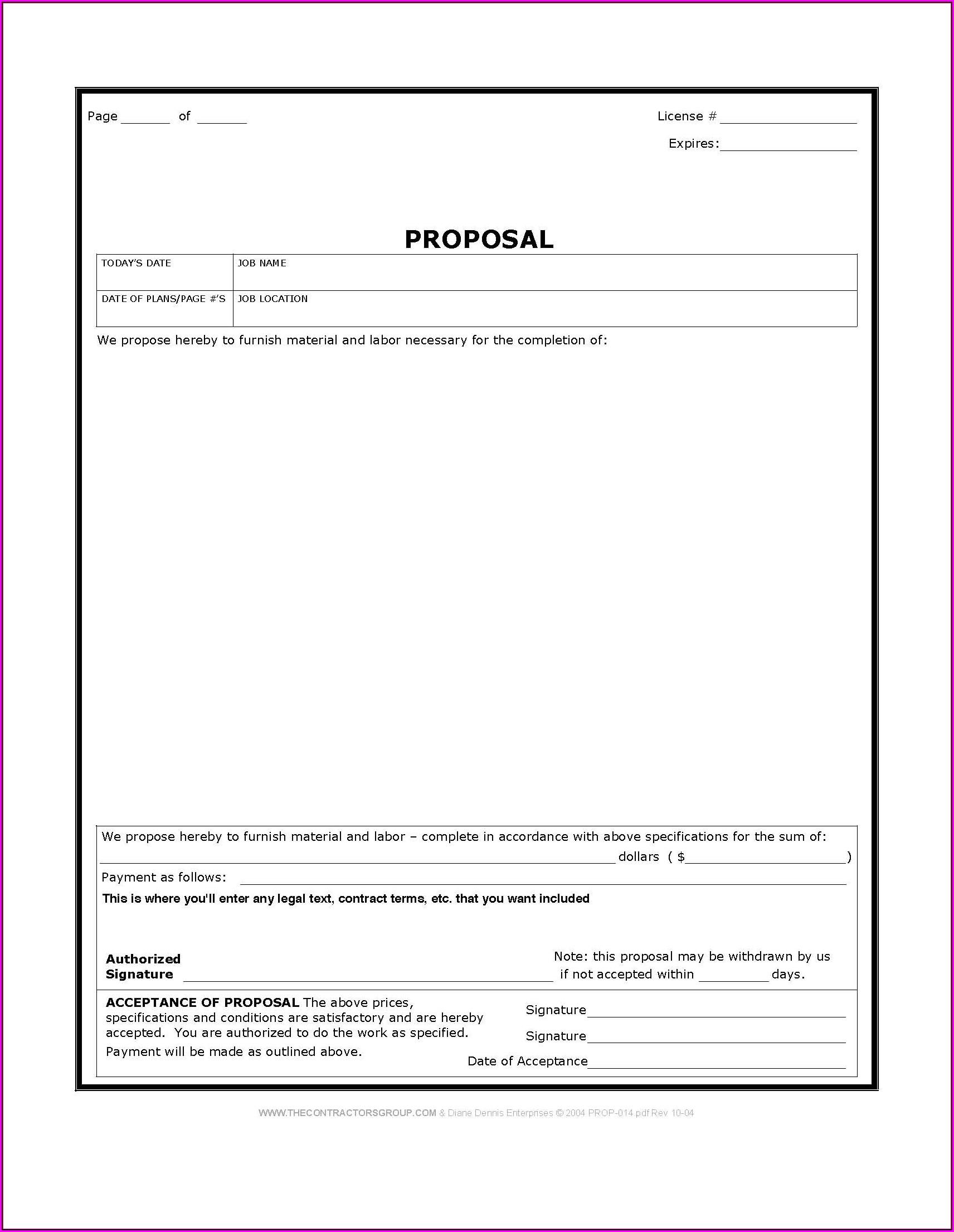 Free Blank Job Estimate Form