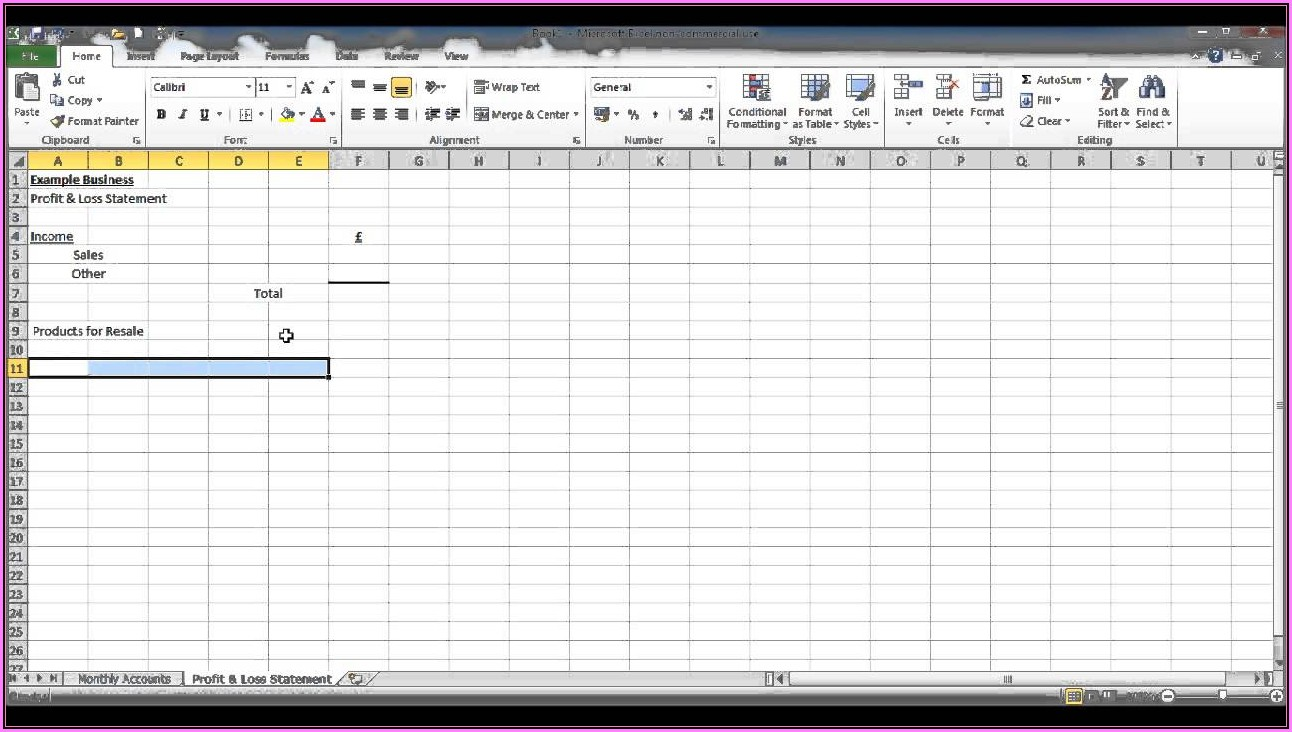 Free Bookkeeping Spreadsheet Using Microsoft Excel