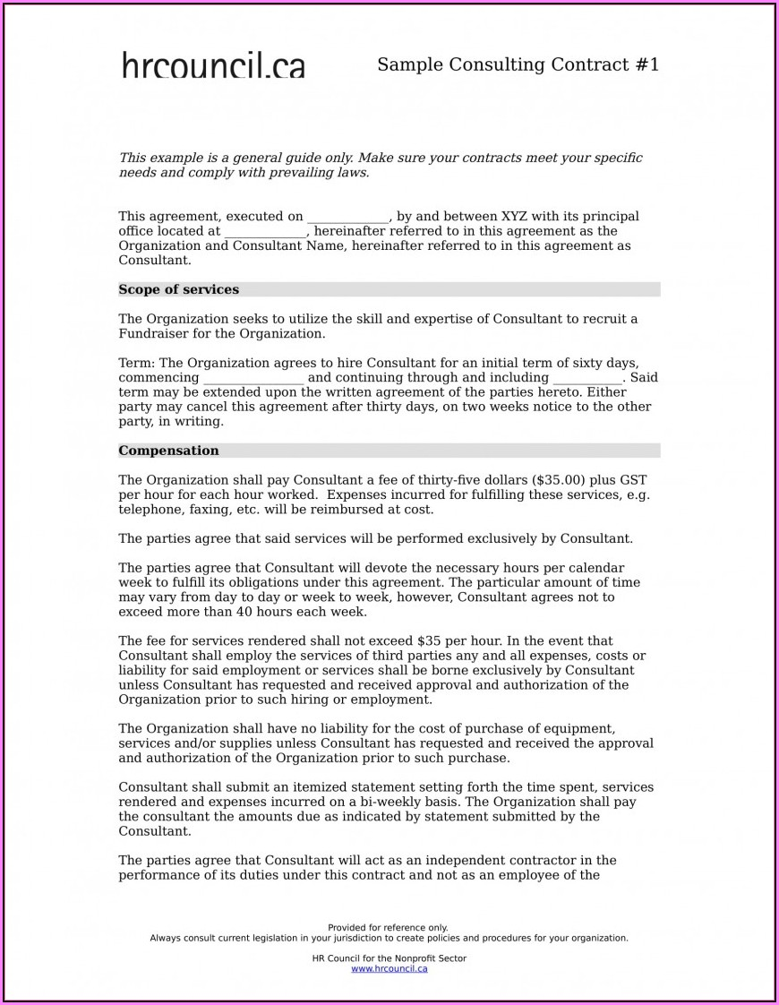 Free Consultancy Agreement Template Australia