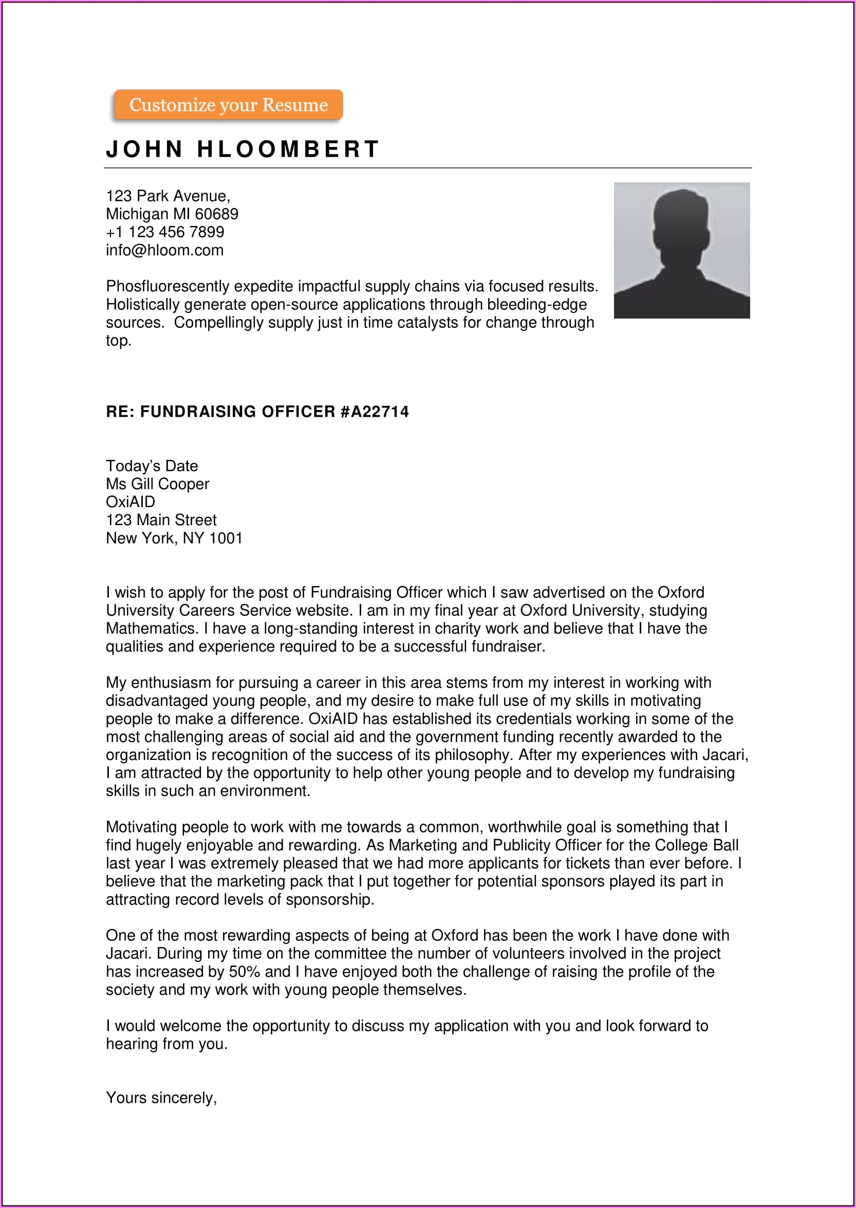 Free Cover Letter Template Download Pdf