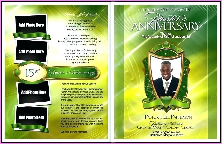Free Download Pastor Anniversary Program Templates