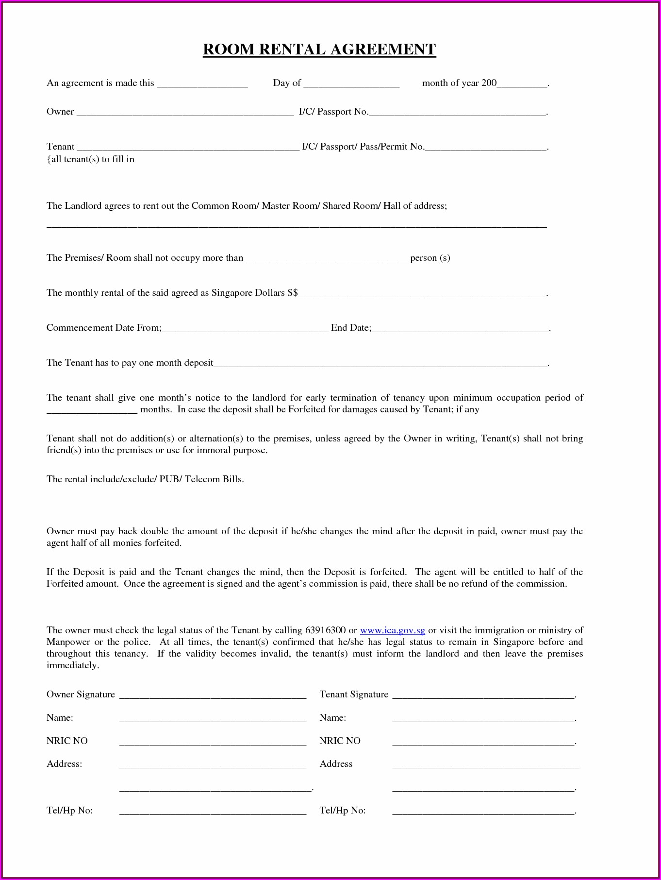 Free Equipment Rental Agreement Form Template Uk