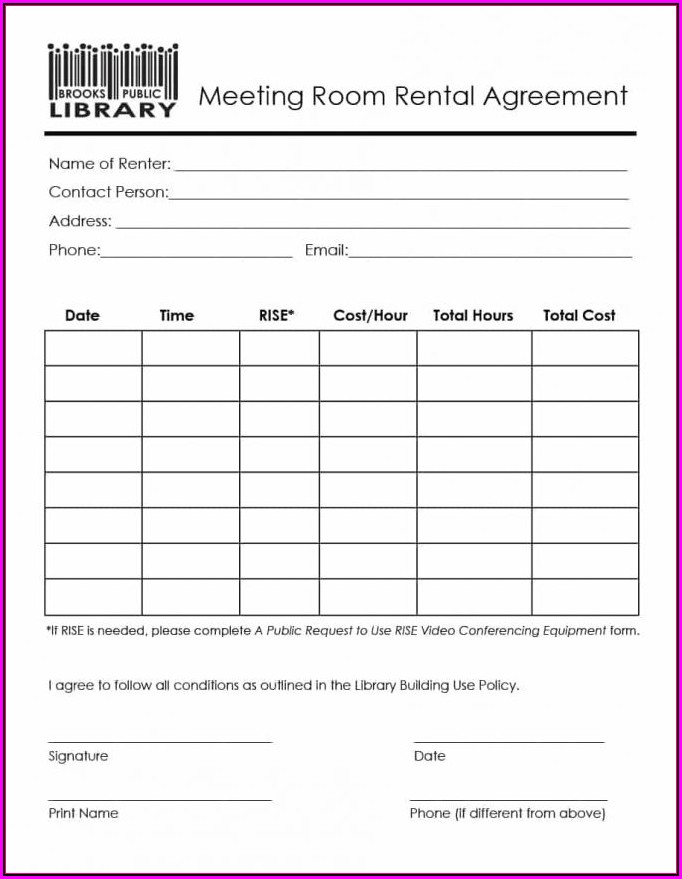 Free Equipment Rental Agreement Form Template