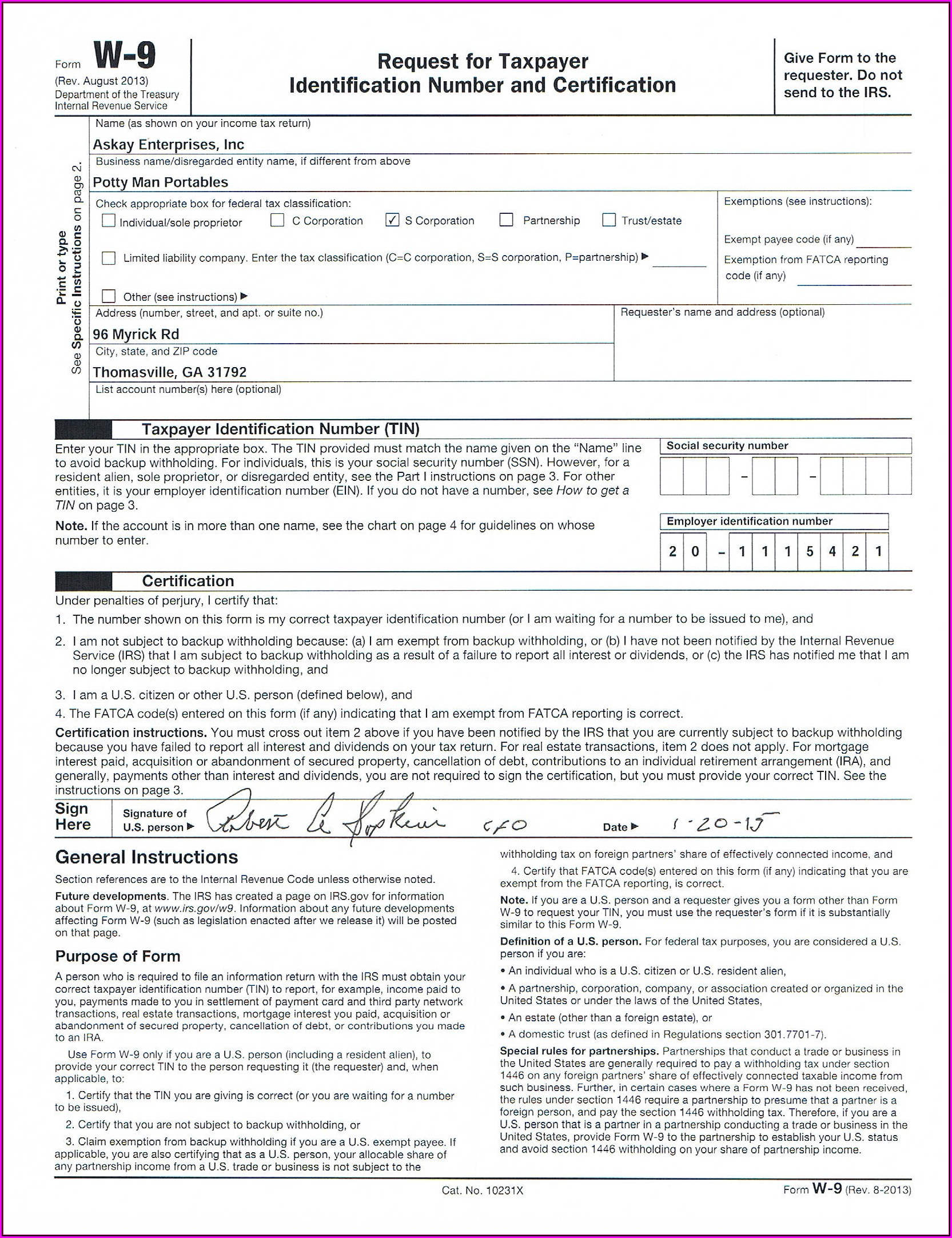 Free Fillable W 9 Form 2016
