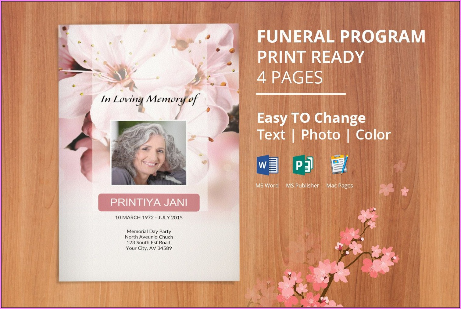 Free Funeral Service Program Template Download