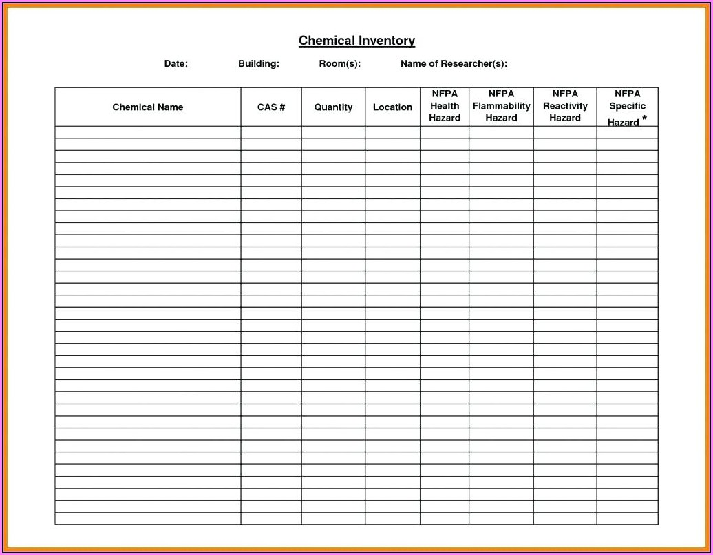Free Inventory Spreadsheet Template Excel Product Tracking