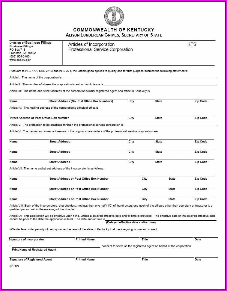 Free Kentucky Legal Separation Forms