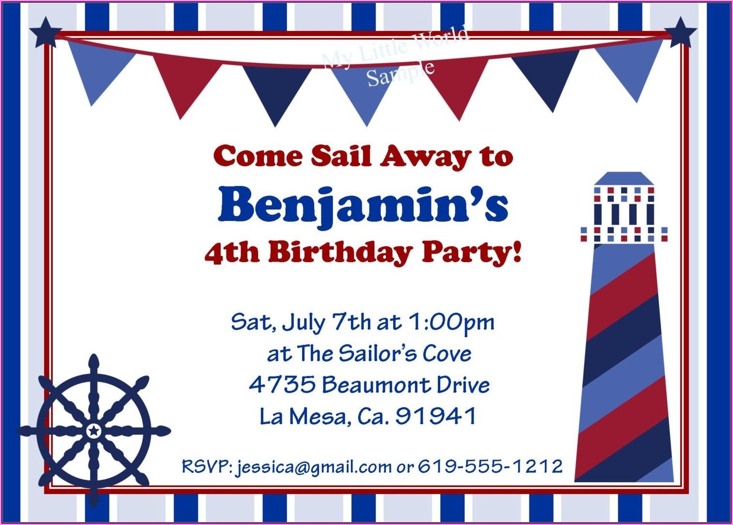 Free Nautical Birthday Invitation Templates