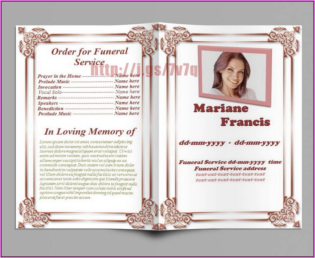 Free Online Memorial Service Program Template