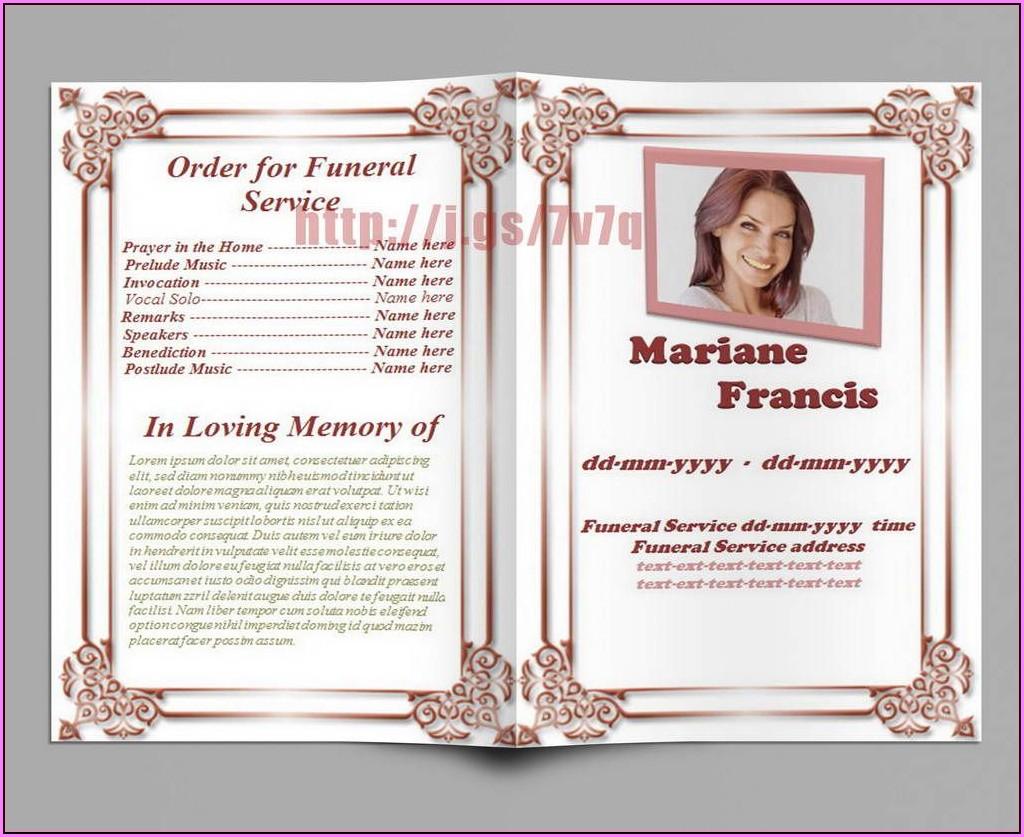 Free Online Memorial Service Program Template
