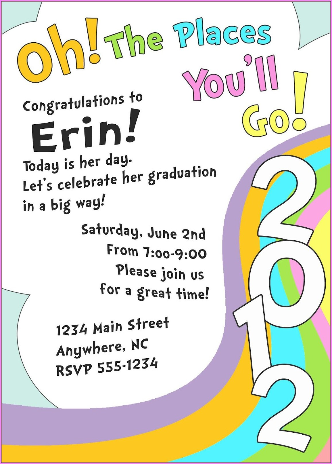 Free Printable Graduation Invitations 2019 Templates