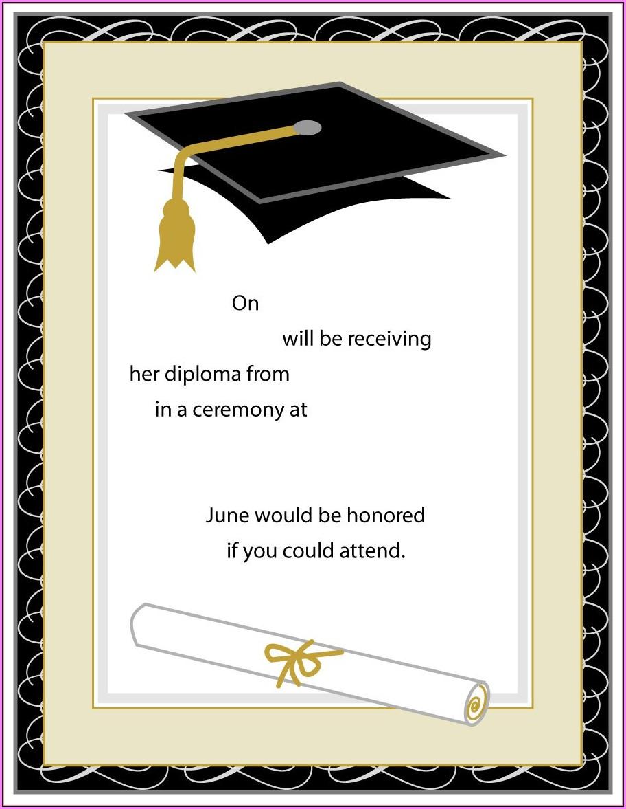 Free Printable Kindergarten Graduation Invitation Templates