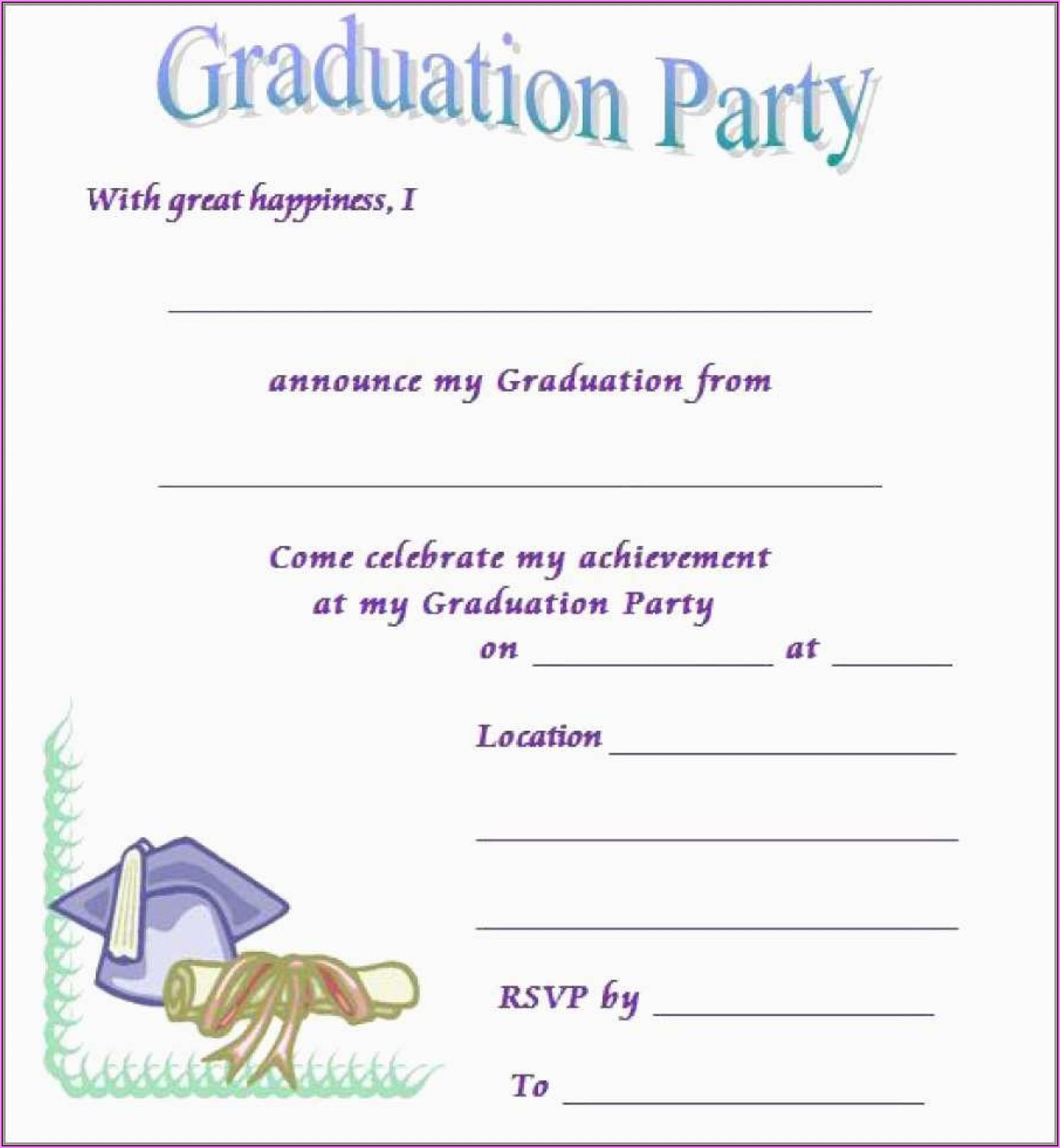 Free Printable Preschool Graduation Invitation Templates