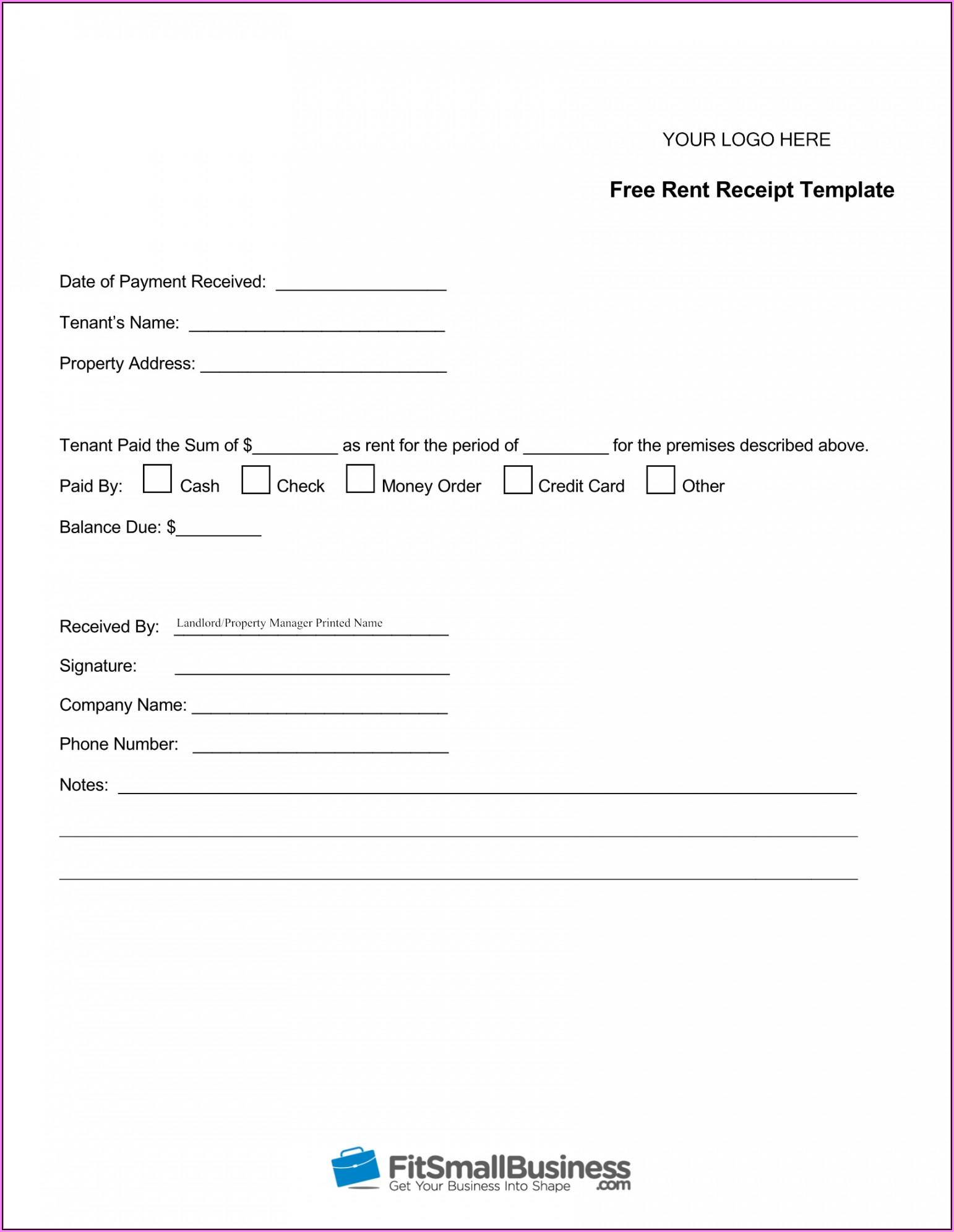 Free Printable Receipt Template Pdf