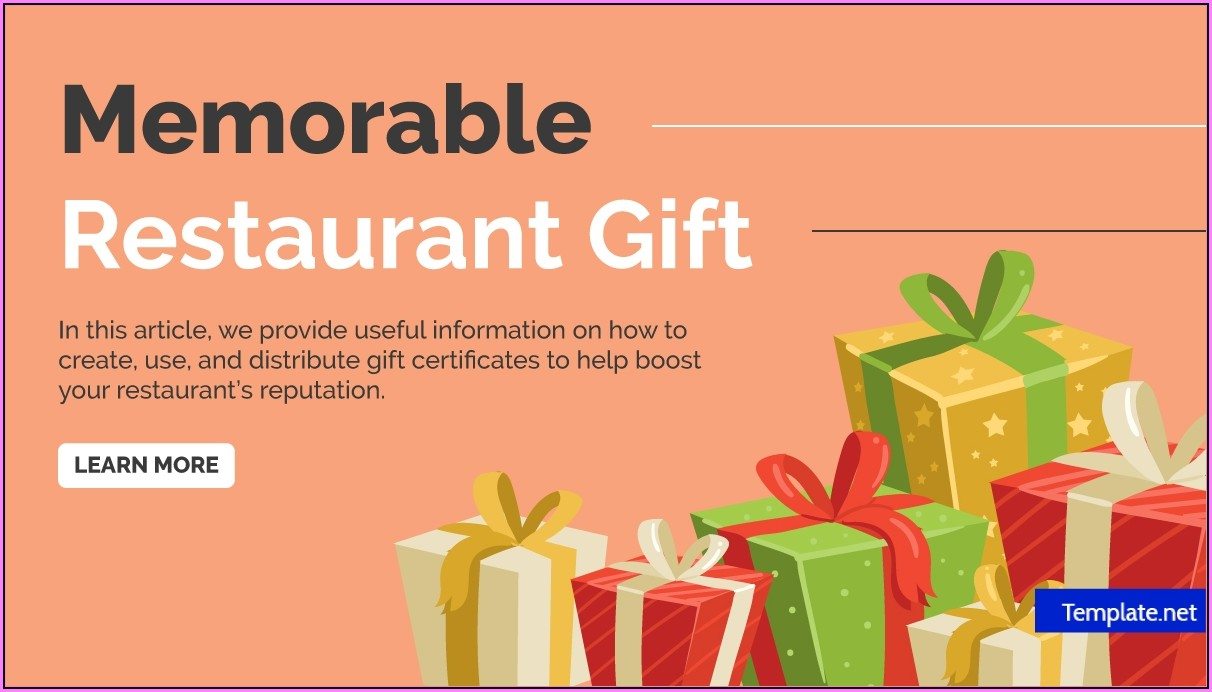 Free Printable Restaurant Gift Certificate Template