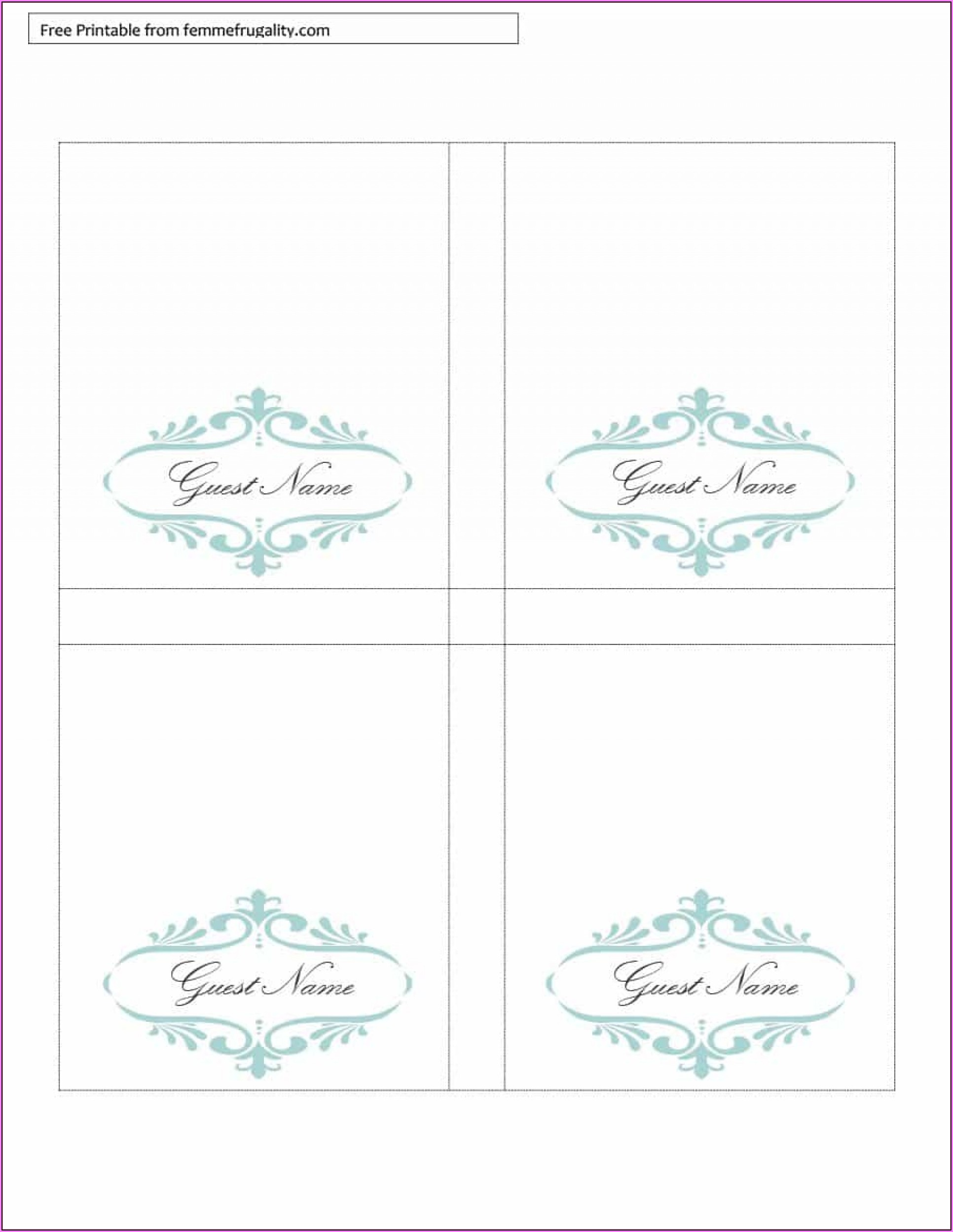Free Reserved Table Tent Template