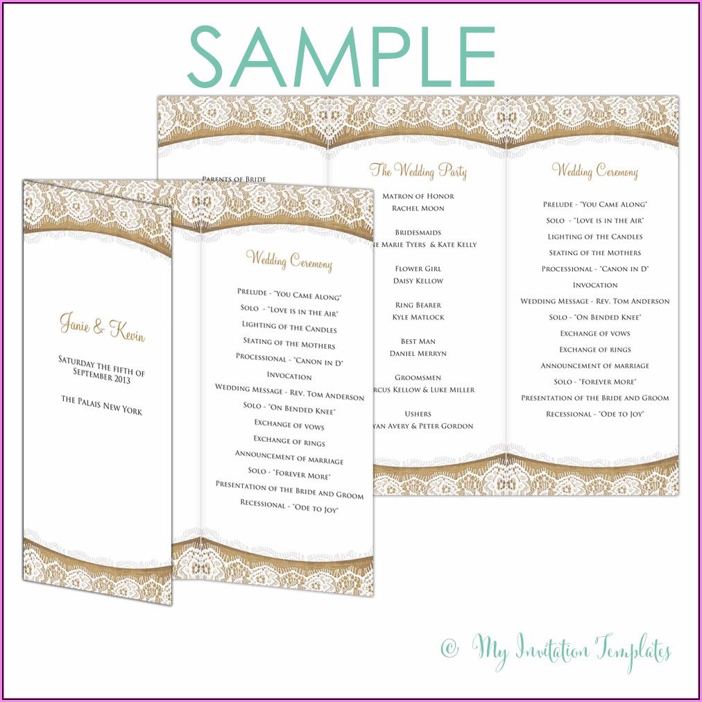 Free Rustic Wedding Program Templates