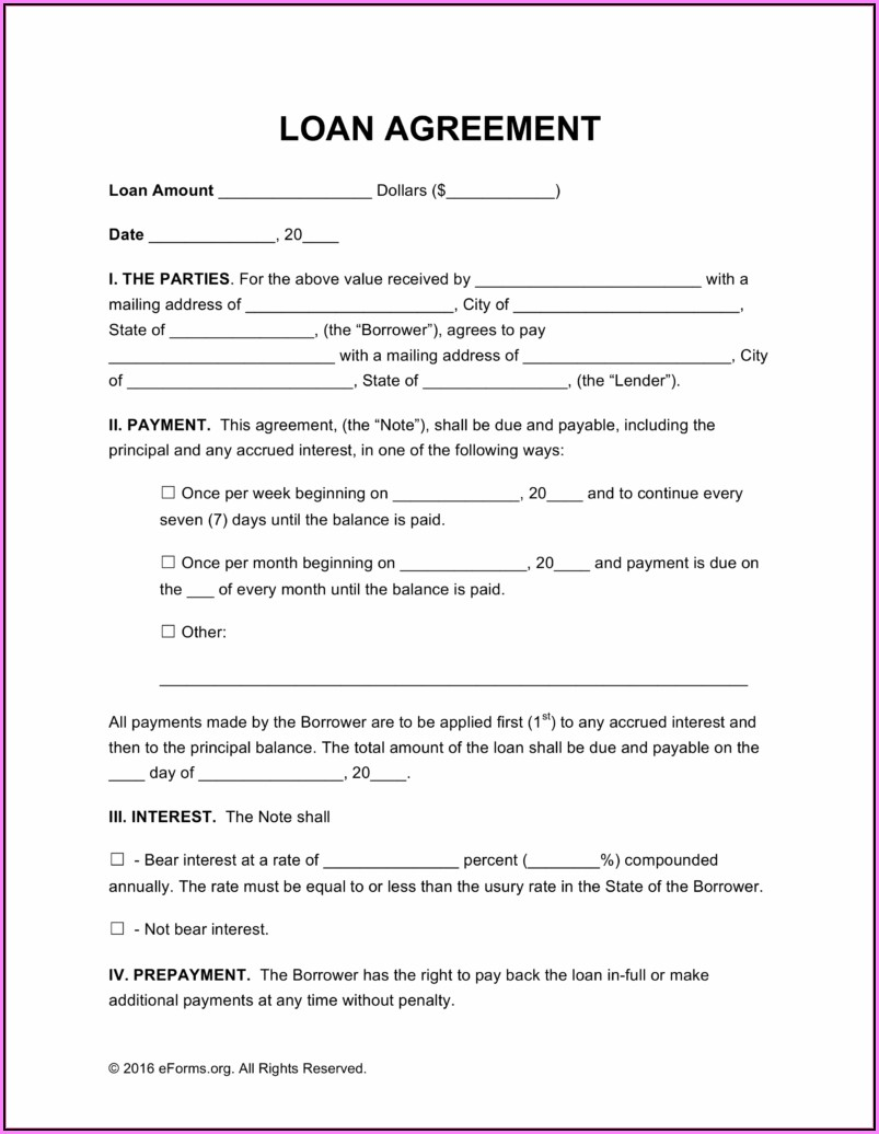 Free Simple Loan Agreement Template Uk Word