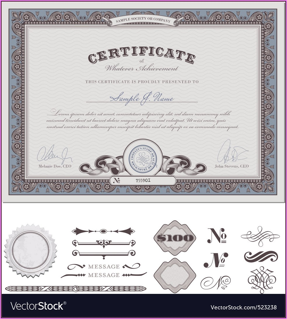 Free Stock Certificate Form