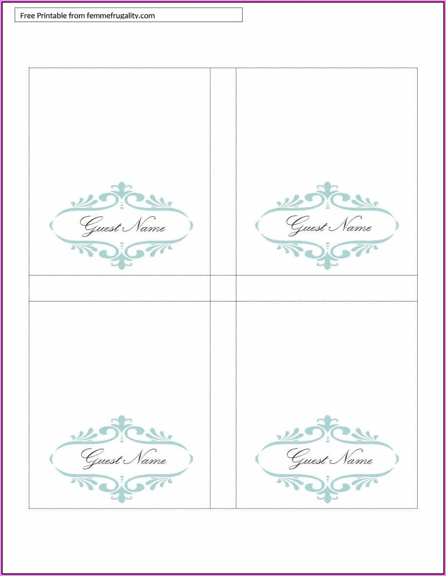 Free Table Tent Template