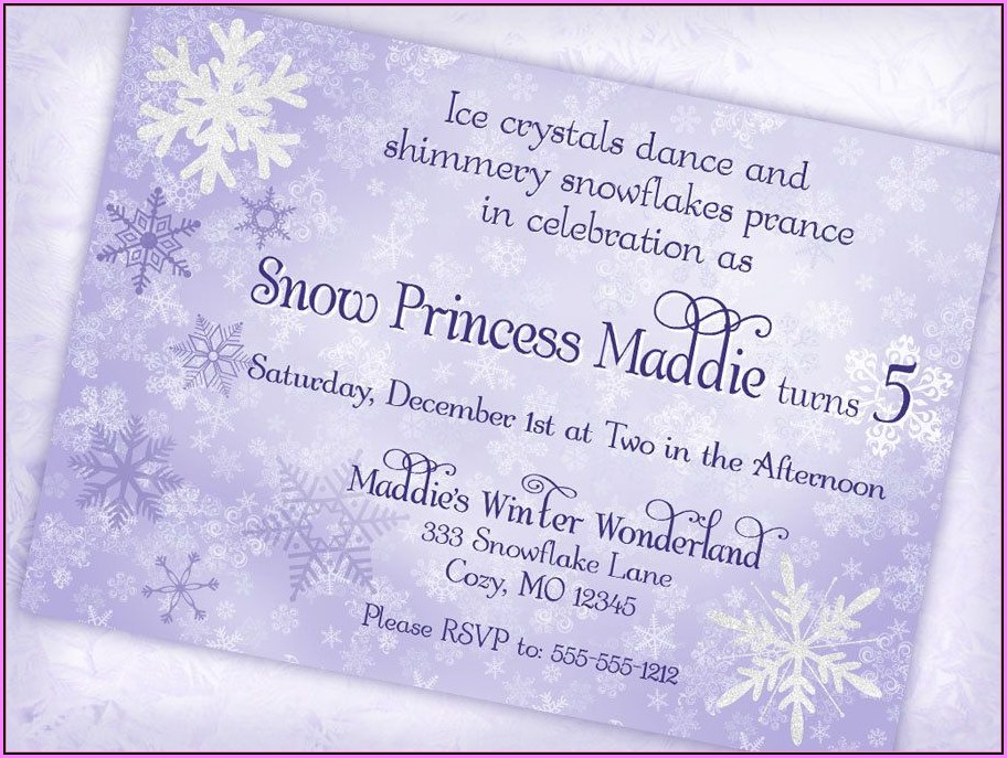 Free Winter Wonderland Invitations Templates