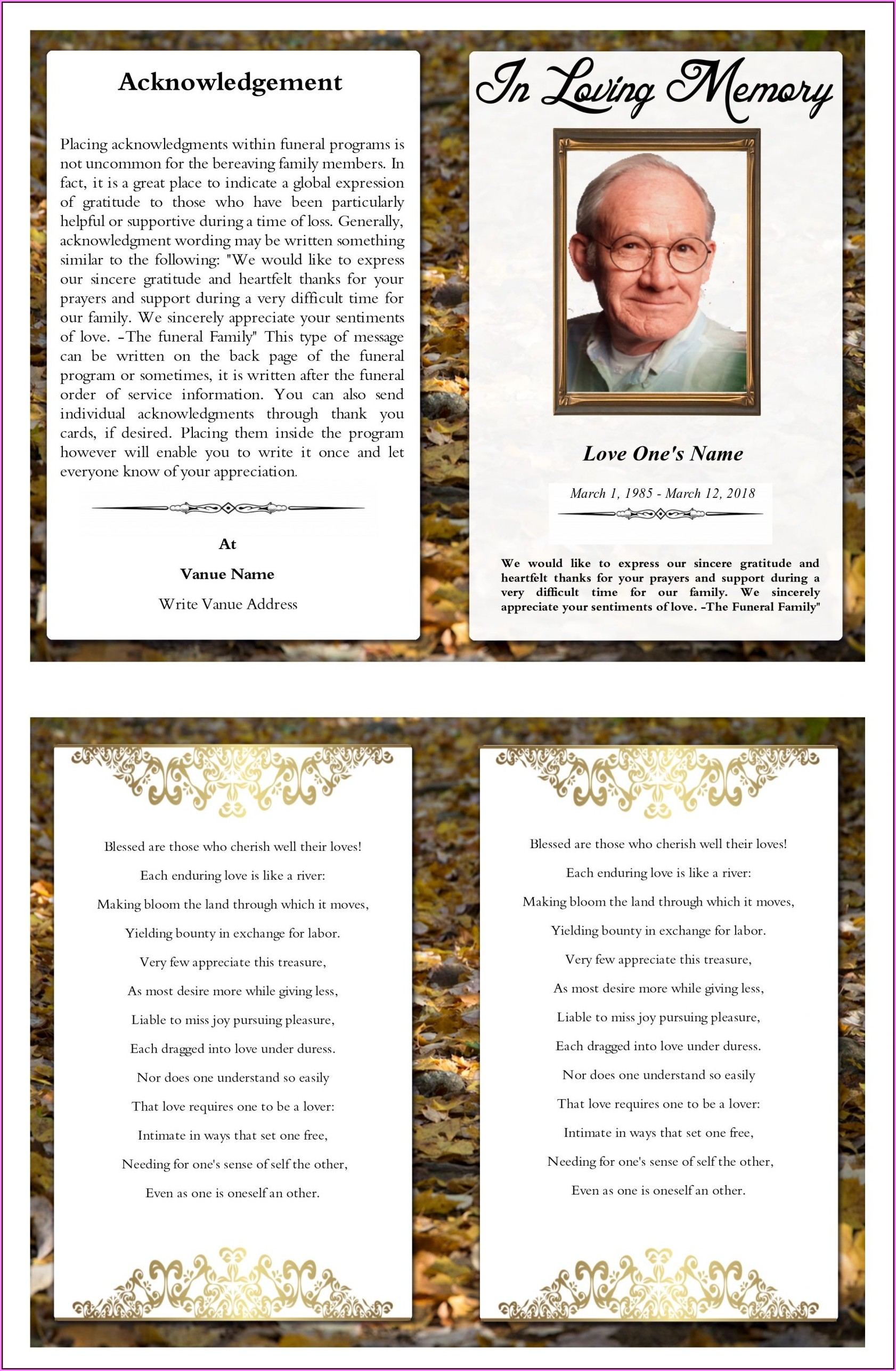 Funeral Brochure Layout