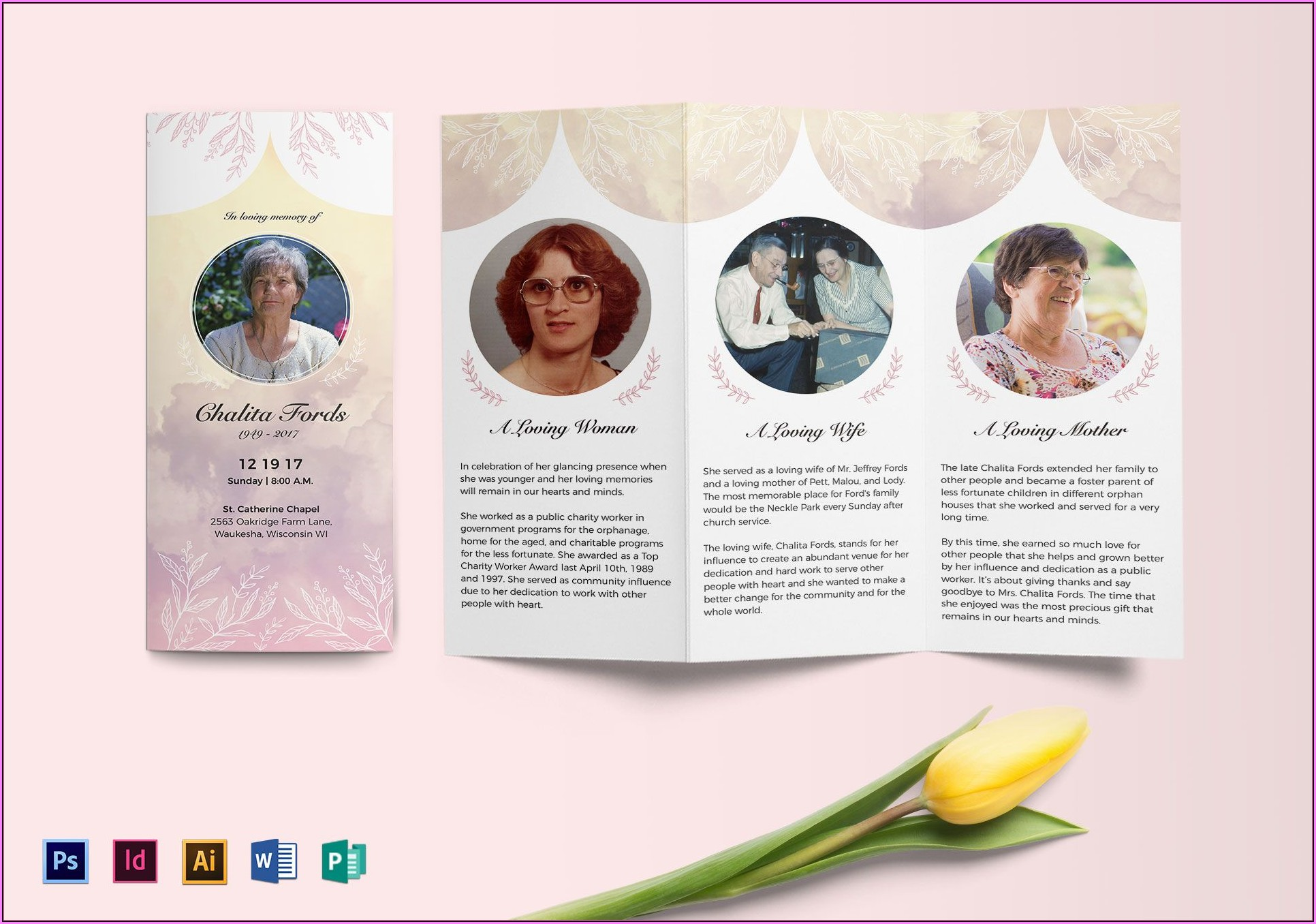 Funeral Brochure Template Word