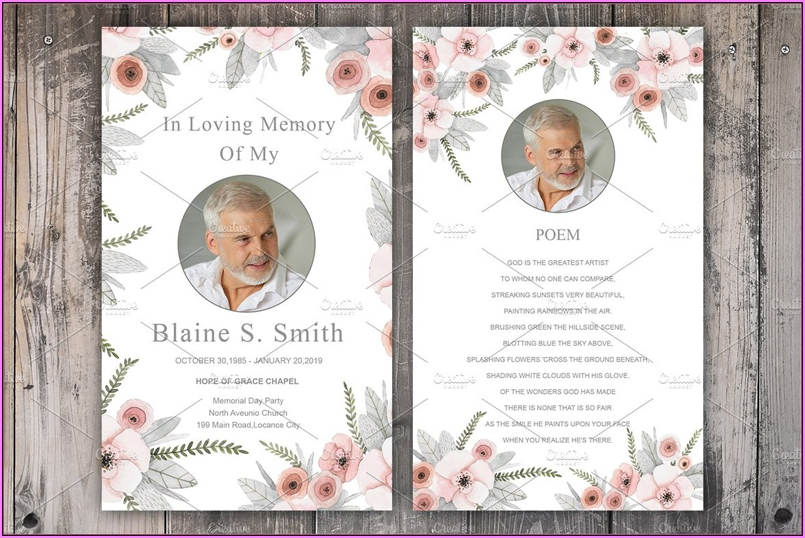 Funeral Cards Templates