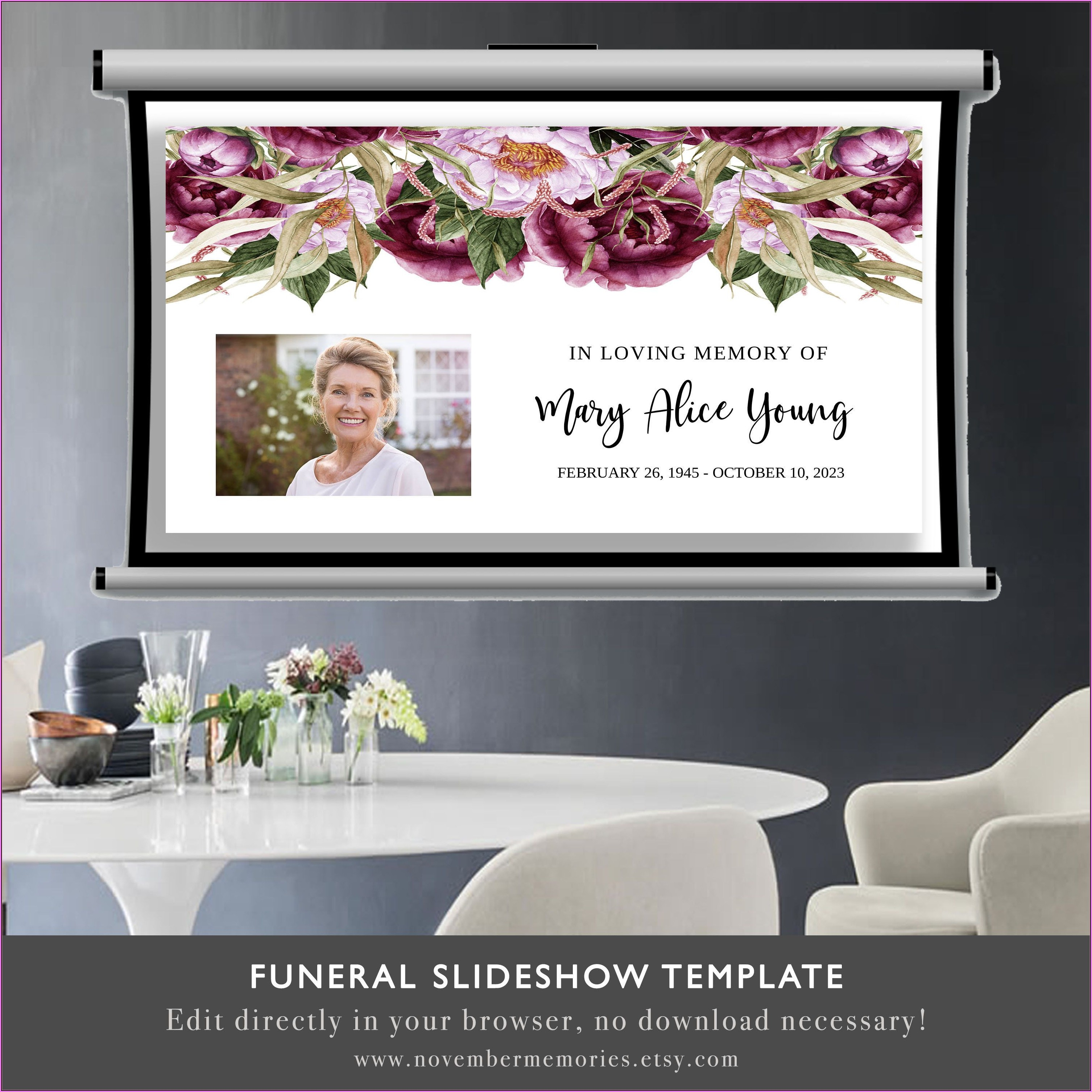Funeral Photo Slideshow Template