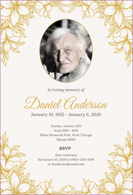 Funeral Reception Invitation Template