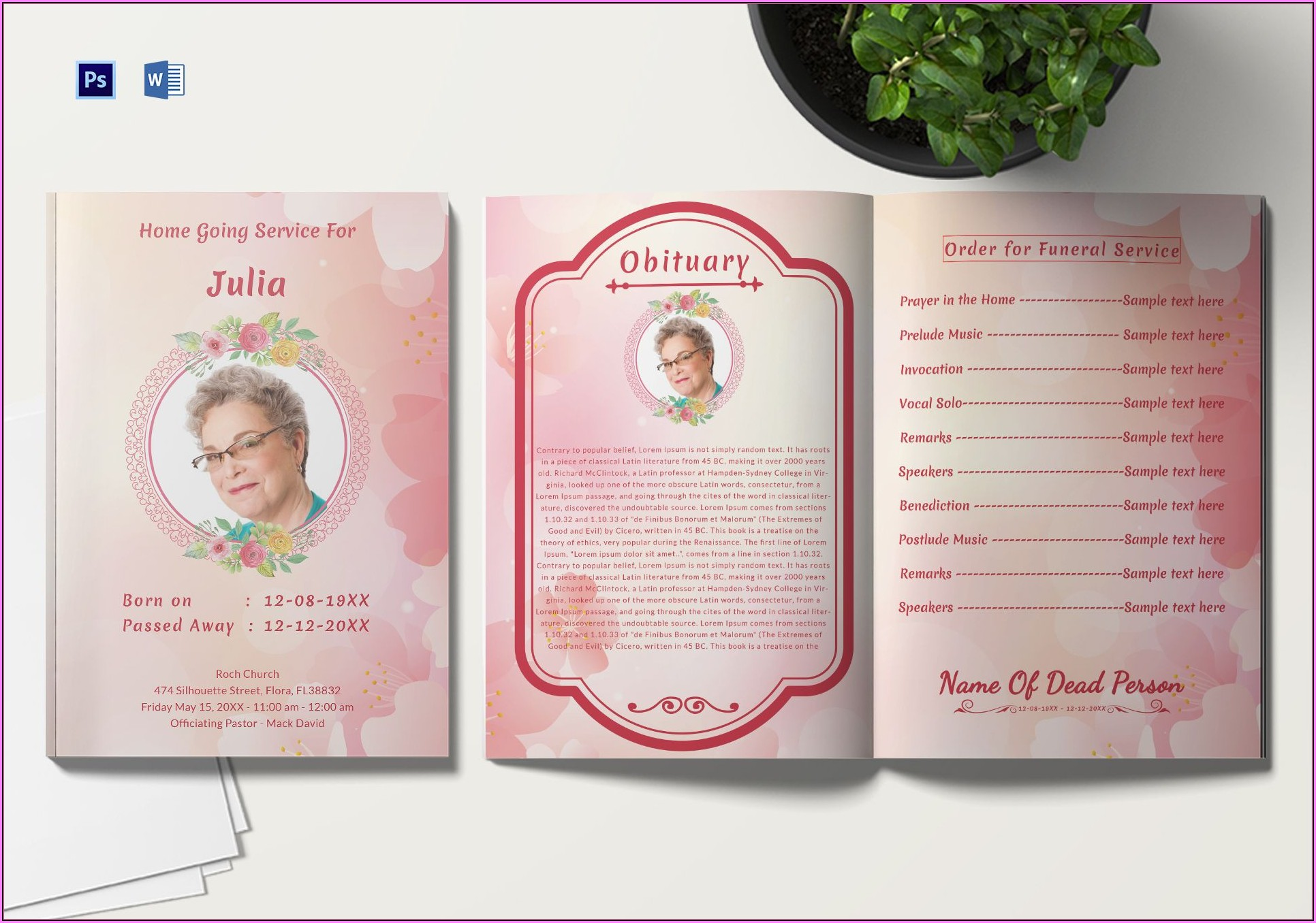 Funeral Service Template Microsoft Word