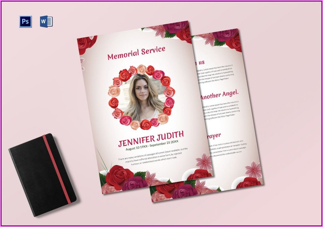 Funeral Service Template Publisher