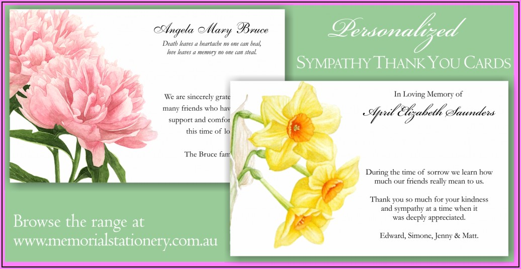 Funeral Thank You Cards Templates
