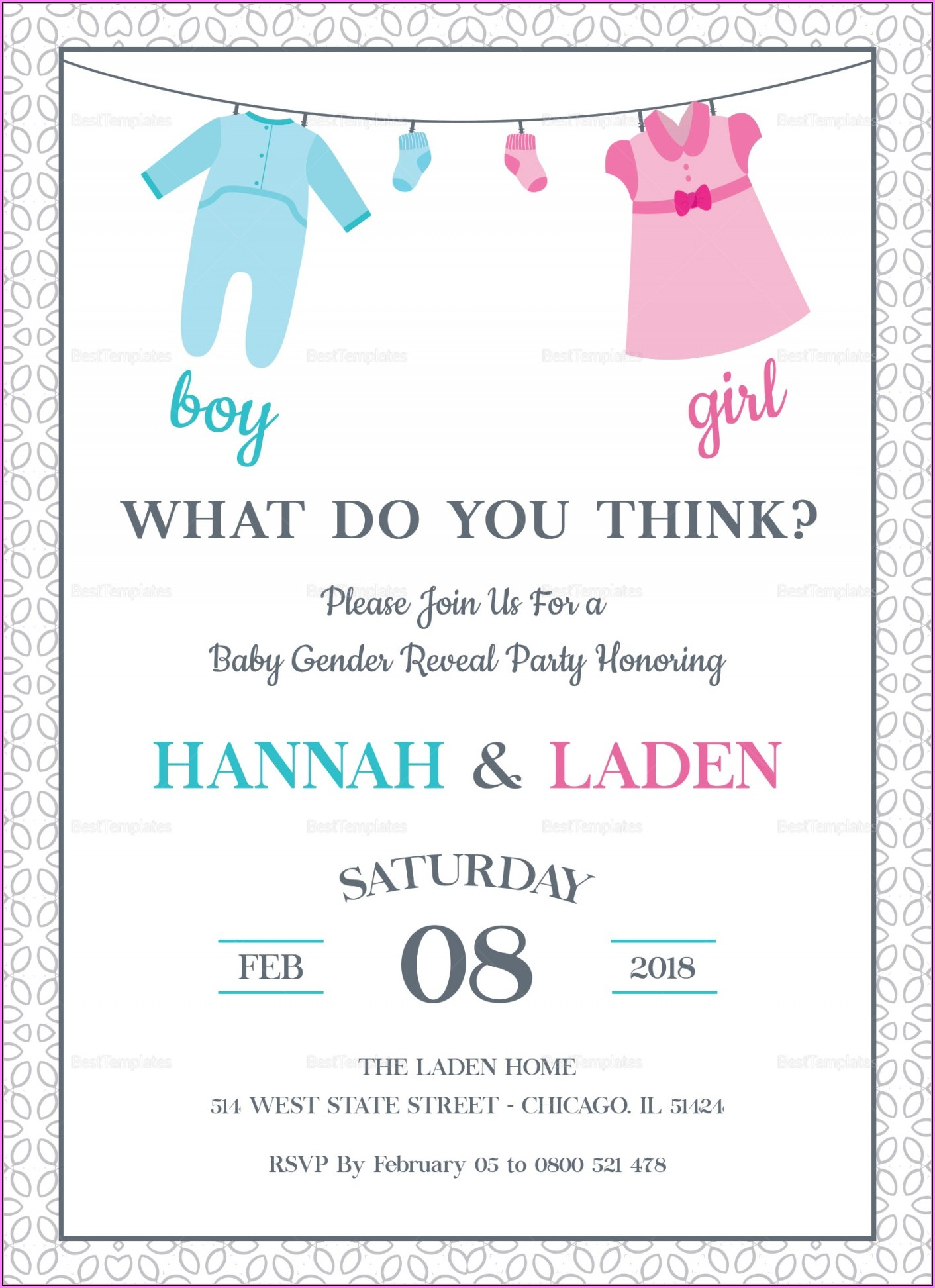 Gender Reveal Email Templates