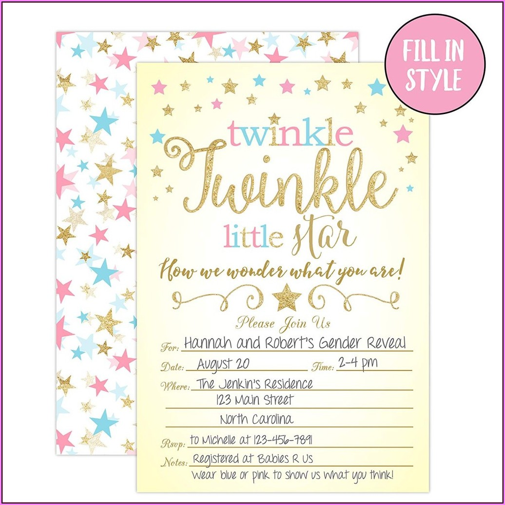 Gender Reveal Invitation Maker Online