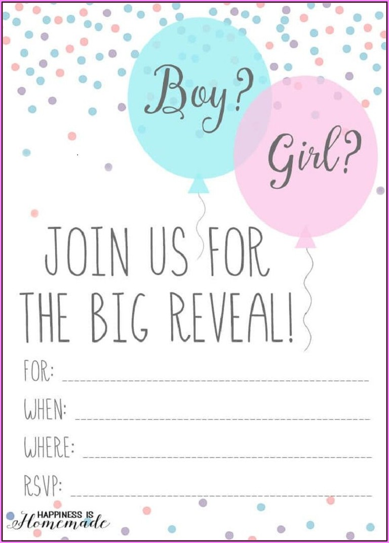 Gender Reveal Templates