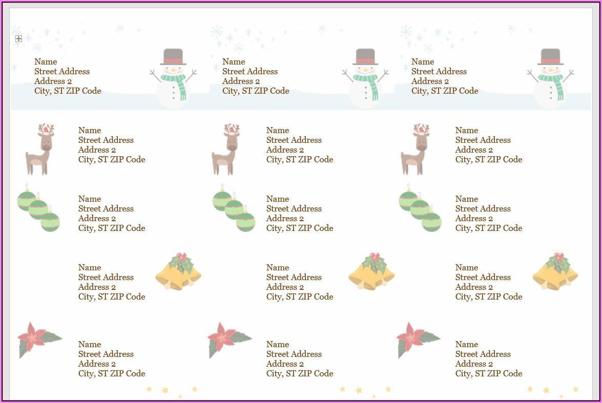 Gift Label Templates Christmas