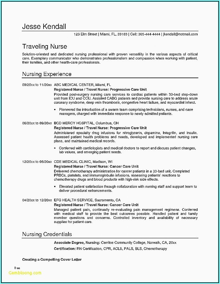 Good Resume Objectives For Registered Nurse