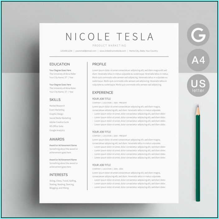 Google Docs Resume Templates Free Download