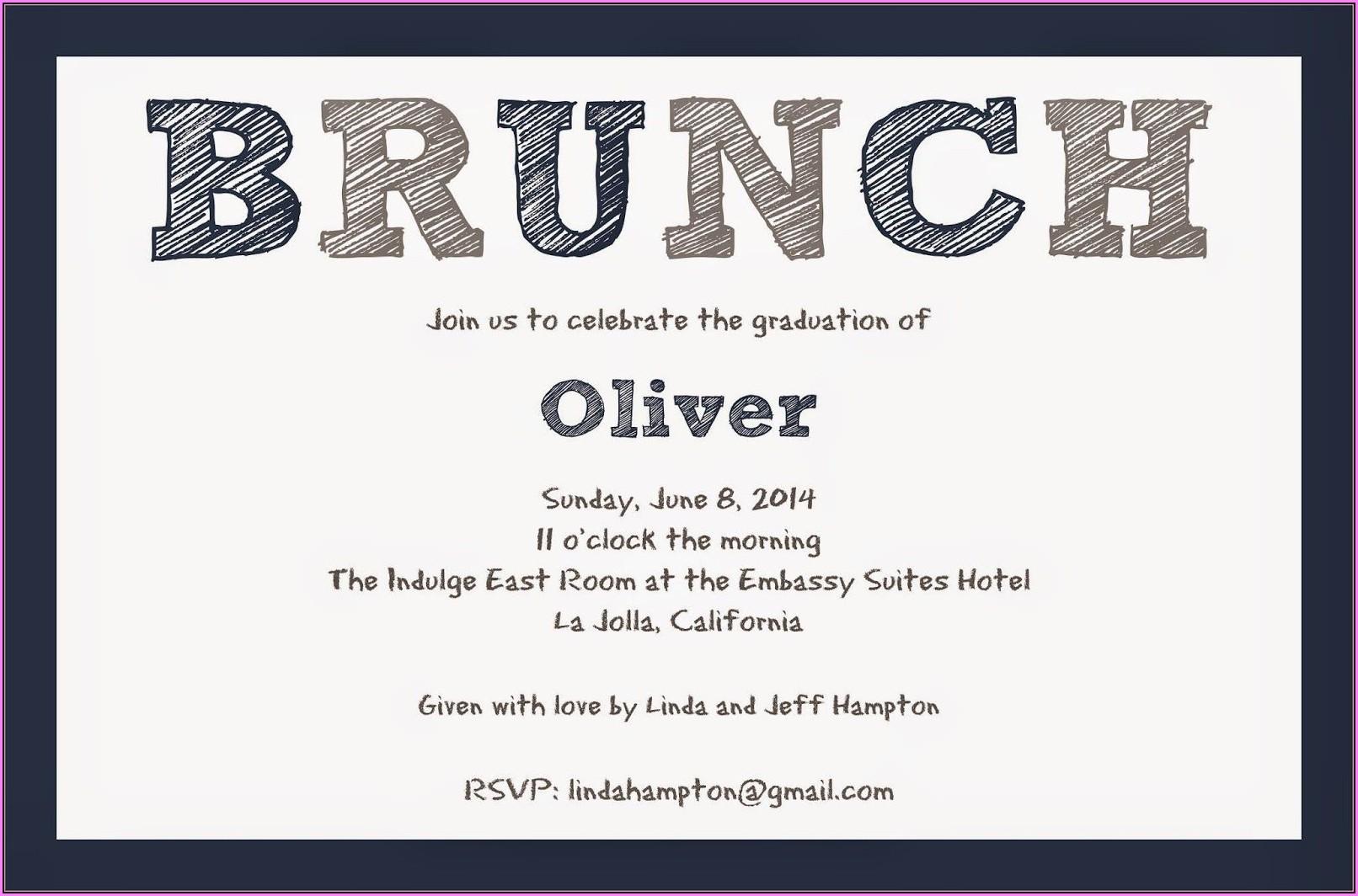 Graduation Brunch Invitation Template